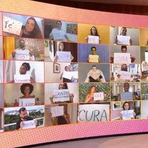 Equipe do 'Encontro' faz homenagem para Fátima Bernardes