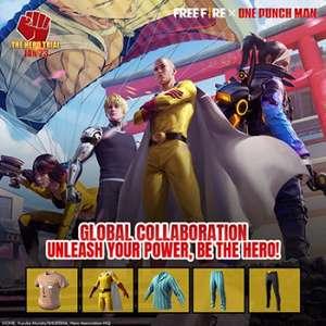Crossover entre Free Fire e One-Punch Man ganha novidades