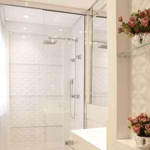 +48 Projetos Incríveis de Banheiro com Chuveiro Cromado