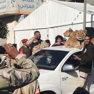 Como sete irmãos e seus leões aterrorizaram uma cidade na Líbia