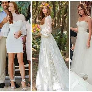 Marina R. Barbosa: relembre 4 vestidos de casamento da atriz