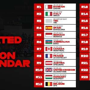 Veja como ficou o calendário da Fórmula 1 em 2021