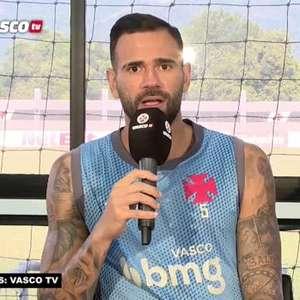 """VASCO: Castán fala sobre jogo contra o Coritiba e evita pensar em vaga para a Libertadores: """"Primeiro temos que confirmar nossa permanência na Série A"""""""