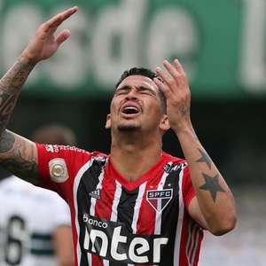 Luciano mais uma vez é desfalque no treino do São Paulo