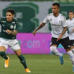 Palmeiras domina 1º tempo, mas Grêmio busca o empate no fim