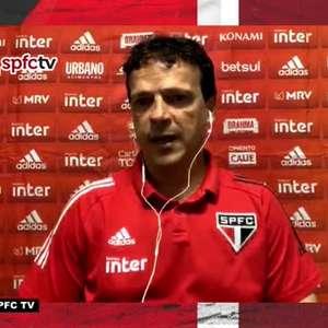 """SÃO PAULO: Diniz não vê motivos para comemorar empate com Athletico, mas pondera: """"Soubemos buscar o resultado e conquistar um ponto importante"""""""