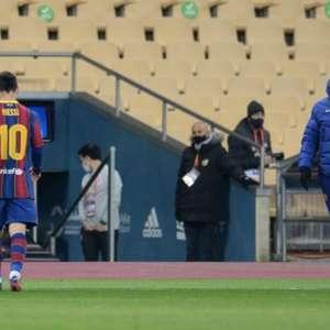 Após primeira expulsão de Messi pelo Barcelona, Koeman ...
