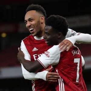Com gols de Aubameyang e Saka, Arsenal faz bom segundo ...