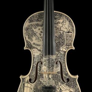 Artista italiano retrata 'O Inferno' de Dante em 33 violinos