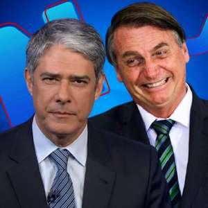 Após 'esconder' Bolsonaro por dias, 'JN' volta a mostrá-lo