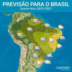 Mais um dia de chuva forte em muitos estados do BR