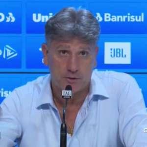 """GRÊMIO: Renato Gaúcho defende: """"Se a gente sair vivo das duas próximas rodadas, vamos ter condições de brigar até o fim pelo título"""""""