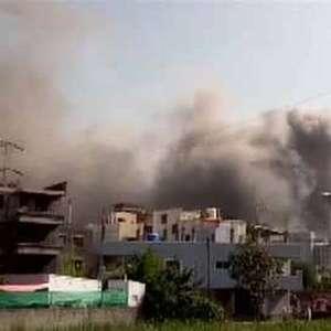 Incêndio atinge prédio na sede do Instituto Serum, na Índia