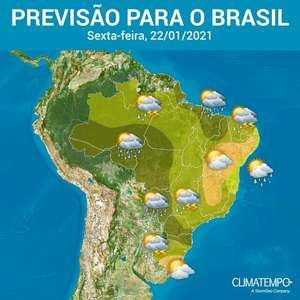 Risco de chuva forte em todas as Regiões do Brasil