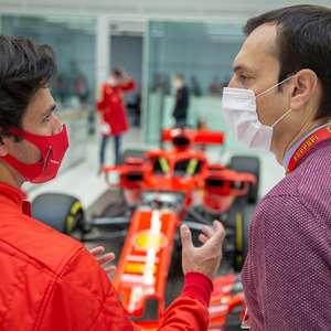 Sainz revela ansiedade por primeiro teste na Ferrari: ...