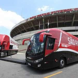 Ônibus do São Paulo é atacado antes de jogo com o Coritiba