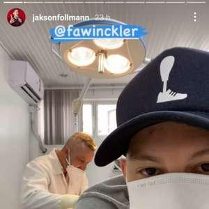 Jakson Follmann passa por procedimento cirúrgico em ...