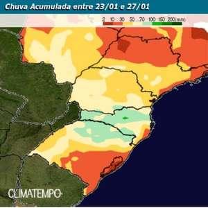 Chuva não dá trégua ao Sul do Brasil