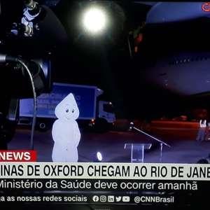 Pedreiro vira 'Zé Gotinha' às pressas e rouba a cena ao vivo