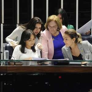 Bancada feminina do Senado se divide entre Tebet e Pacheco