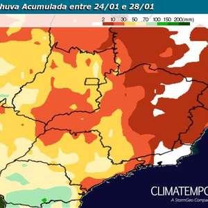 Semana quente e com pouca chuva em MG, RJ e ES