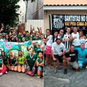 Consulado do Palmeiras e Embaixada do Santos no Rio se ...