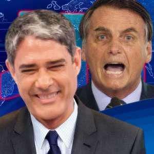 'JN' dá o troco em Bolsonaro após insultos contra Bonner