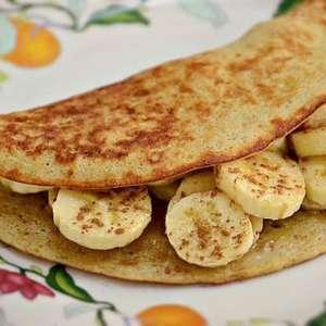Crepioca de banana prática: pronta em 10 minutos