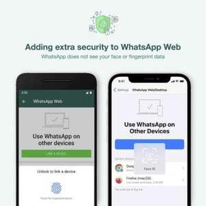 WhatsApp começa a pedir biometria para acessar versão web