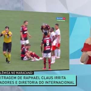 Renata Fan critica atuação de arbitragem em Internacional e Flamengo: 'Situação vexaminosa'