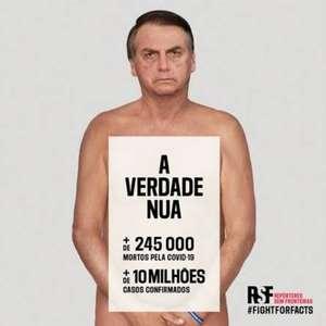 ONG usa Bolsonaro 'nu' para campanha contra desinformação