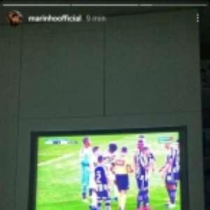 Marinho, do Santos, critica marcação de pênalti contra o Botafogo: 'Está sendo roubado'