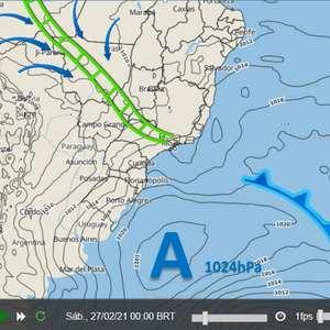 ZCAS provoca muita chuva no Sudeste