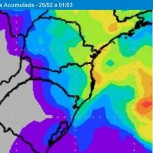 Fevereiro termina com pouca chuva no Sul