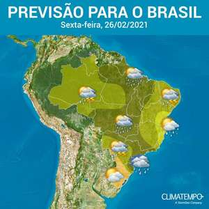Muita chuva no Sudeste, Centro-Oeste, Norte e Nordeste