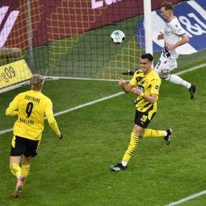 Ex-Flamengo, Reinier celebra primeiro gol pelo Dortmund ...