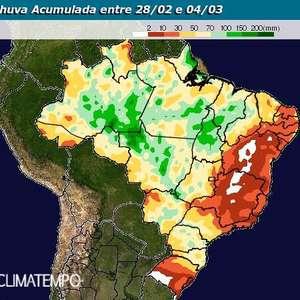 Risco de temporal no centro-norte do Brasil nos próximos ...