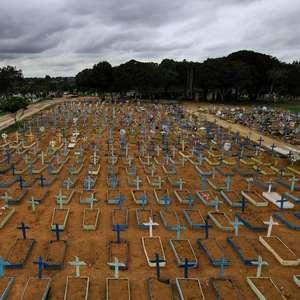Brasil tem 2º dia com mais mortes e 2º com mais casos novos