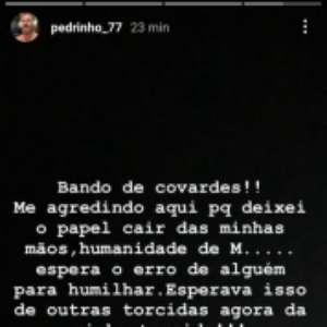 Pedrinho desabafa após deixar papel do Vasco cair em sorteio