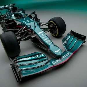Aston Martin AMR21, novo carro de Vettel, resgata o verde