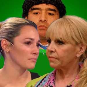 Ex-mulher e última namorada de Maradona batem boca na TV