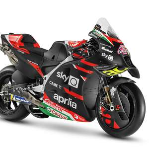 Com tributo a Gresini, Aprilia apresenta RS-GP preta e ...