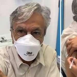 """Caetano Veloso é vacinado contra covid-19: """"Chegou a data"""""""