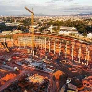 Futura casa do Galo, a Arena MRV está ficando com 'cara'de estádio. Veja o vídeo
