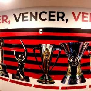 Flamengo atualiza mural dos títulos no Ninho do Urubu; ...