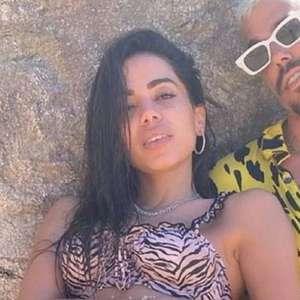 Anitta curte férias com seu affair Lipe Ribeiro no Caribe