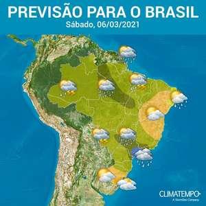 Fortes pancadas de chuva em todas as Regiões do Brasil