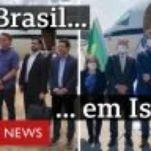 Covid-19: comitiva brasileira adere à máscara em Israel