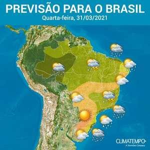 Alerta para temporais no Sudeste, Norte e Nordeste nesta quarta