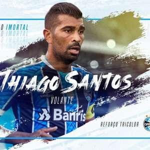 Fechou! Meio-campista Thiago Santos é contratado pelo Grêmio